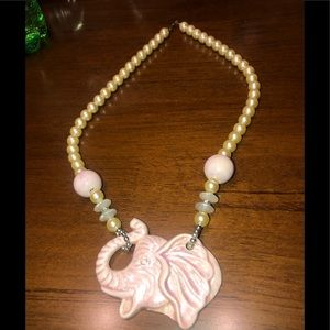 Accessories - ELephant pearl necklace